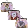 Feline Portrait Clasp Coin Purse