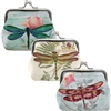 Dragonfly Garden Clasp Coin Purse