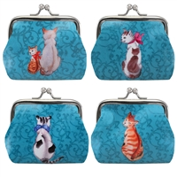Posing Cats Clasp Coin Purse
