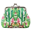 Blooming Cactus Gardern Coin Purse