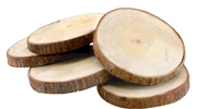 Wood Coasters with Bark