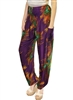 Zelda Pants Purple Peacock