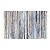 Lake Shore Denim & Metallic Leather Rug