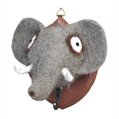 Ernest Elephant Mount w/hook Wooly Friend
