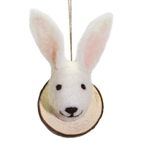 Rabbit Wooly Friend Wood Cut Mount