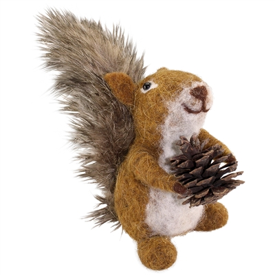 Sammy Squirrel Felted Woolie Friend