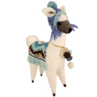 Larry Llama Felted Wool Friend