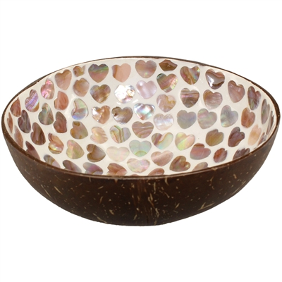 Coconut Bowl w/Mother of Pearl Inlay