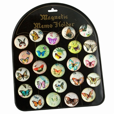 Glass Magnet Butterflies