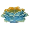 Lotus Tea Light HLDR Porcelain Blue/Gold
