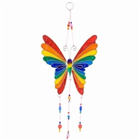 Rainbow Butterfly & Beads Sun Catcher