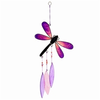 Purple Resin Dragonfly Suncatcher