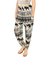 Jeannie Pants Black-Ecru