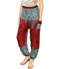 Jeannie Pants Red & Turquoise
