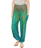 Jeannie Pants Blue & Green