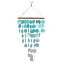 Aqua Waterfall Capiz Shell Chime