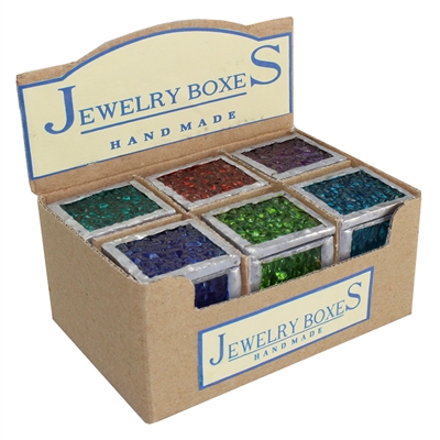 Rainwater Colored Glass Ring Box