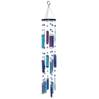 Blue Glass Suncatcher Mobile
