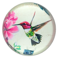 Glass Paperweight Hummingbird