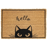 Hello Cat Door Mat