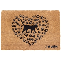 Cat Heart Door Mat