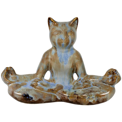 Lotus Meditation Cat