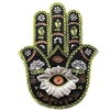 Silver & Green Hamsa Incense Holder/Paperweight/Plaque