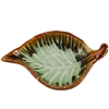 River Leaf Tray Earth Green Ceramic