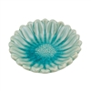 River Flower Tray Aqua Ceramic