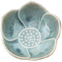Lotus Cup Blue Ceramic