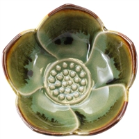 Lotus Cup Green Ceramic 1Dz