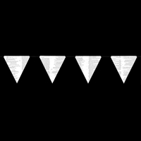 Paper Triangle Bunting Garland