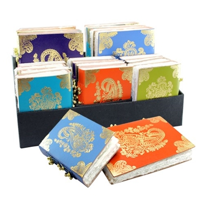 Gold Embossed Leather Journal Asst 20pc Display
