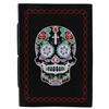 Sugar Skull Black Leather Natural Paper Journal