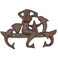 Mermaid & Dolphins Wall Hook