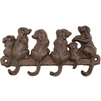 Six Puppies Wall Hook