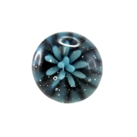 Blue Daisy Glass Knob