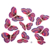 Fuschia Gold Glitter Butterfly Garland