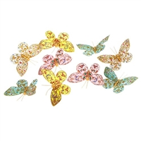 Butterfly Garland Multi Jeweled