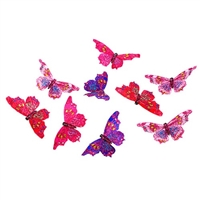 Royal Pinks Purple Gltr Butterfly Garland