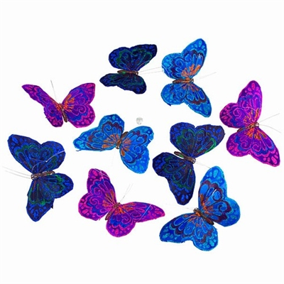 Butterfly Garland Royal Glitter