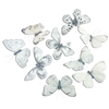 Pale Whites Butterfly Garland