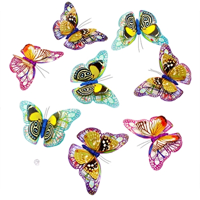 Butterfly Fantasy Duo Paper Garlands 8Pc