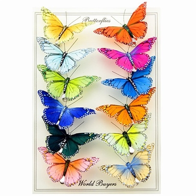 Butterfly Feather Clips