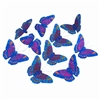 Royal Blue Glitr Butterfly Garland