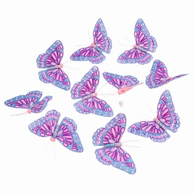 Butterfly Garland Glitter Pinks