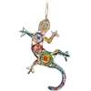 Recycled Magazine Gecko Ornament
