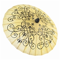 Parasol Hearts Scroll Design