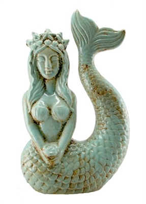 Lena Mermaid Queen Ceramic Statue
