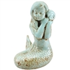 Shelly Mermaid Statue Antique Cyan